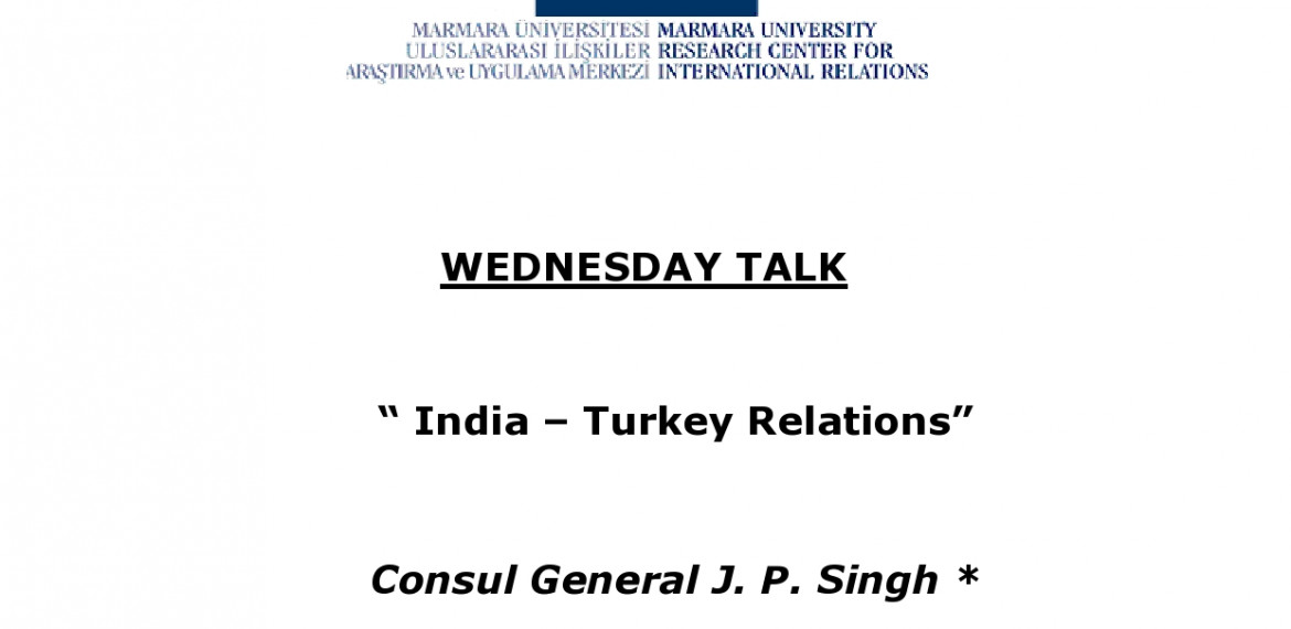 India's Consul General in Istanbul J. P. Singh was the guest of our Wednesday Talk!